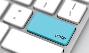 vote key on a keyboard