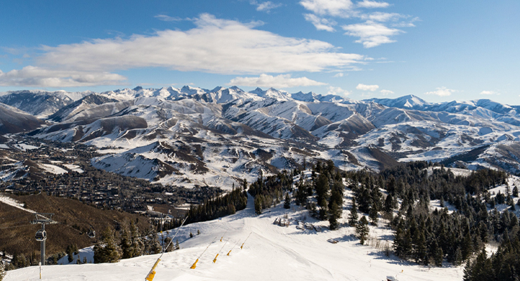 View of Sun Valley mountains. CUES 2021 Execu/Summit will be held in Sun Valley, ID