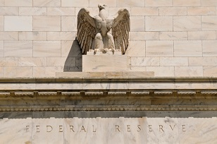 Eagle statue at Federal Reserve Bank